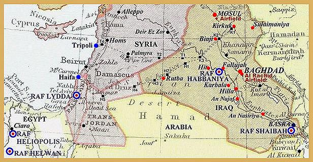 Old map of iraq afp cv world war ii era map of iraq gumiabroncs Image collections