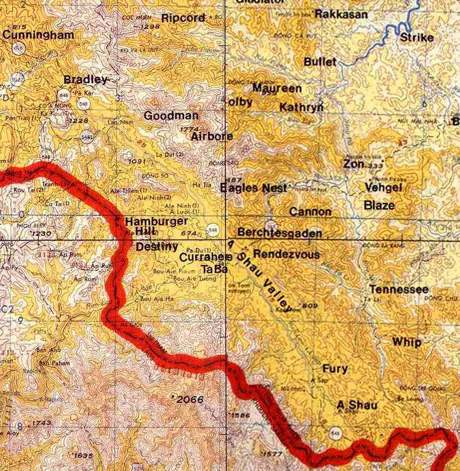 A Shau Valley Vietnam Map