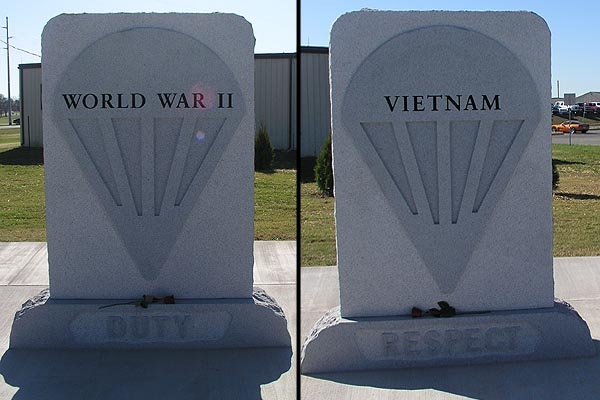 WWII and Vietnam Monuments