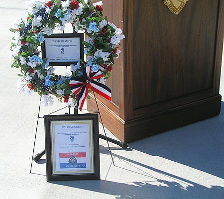 506th Association Plaques and Wreath