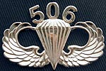 Bright Silver Parachutist Badge