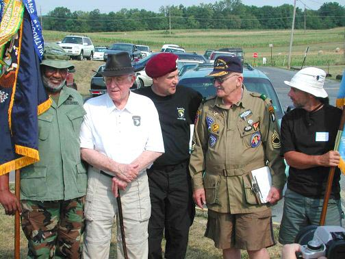 Easy Company and WWII Reenactors
