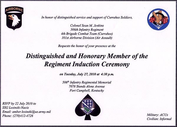 Army Pa Program >> 2010 DMOR Induction Ceremonies, July 2010